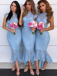 lace bridesmaids Sexy Mermaid Cap Sleeves Lace Bridesmaid Dresses, Tight Lace Formal Dresses This dress could be custom made, there are no extra cost to do custom size and c High Low Bridesmaid Dresses, Mermaid Bridesmaid Dresses, Lace Bridesmaid Dresses, Mermaid Dresses, Lace Mermaid, Bride Maid Dresses, Mothers Dresses, Blue Party Dress, Lace Party Dresses