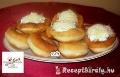 Joghurtos rongyos lángos | Receptkirály.hu Hot Dog Buns, Hot Dogs, Hamburger, Bread, Food, Essen, Hamburgers, Breads, Baking