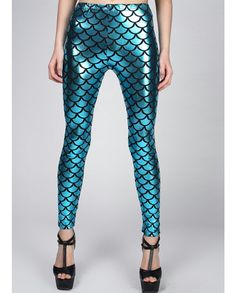 Mermaid TightsLegging Pants StockingNOT the little by leggingscube, $19.90