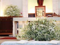 Znalezione obrazy dla zapytania arreglo de flores para boda iglesia