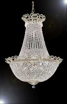 A93-SILVER/452/6 Empire Style CHANDELIER Chandeliers, Crystal Chandelier, Crystal Chandeliers, Lighting