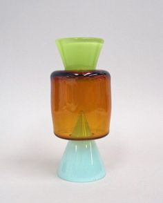Three-part Vase Prototype designed by Harry Allen, 2012 | Corning Museum of #Glass #orange