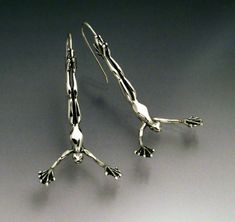 Diving Frog Earrings by SheppardHillDesigns on Etsy, $45.0 Wouldn't actually need them, they're just fun!