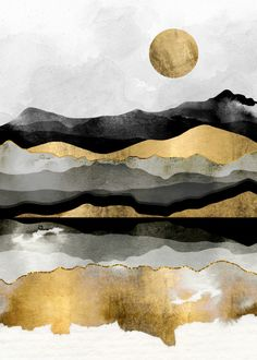 Ideas For Contemporary Abstract Landscape Painting Art Nature Posters, White Wall Art, Poster Prints, Art Prints, Moon Art, Print Artist, Art Plastique, Painting Inspiration, Watercolor Art
