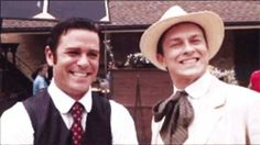 Yannick Bisson (Murdoch) and Peter Stebbings (James Pendrick)