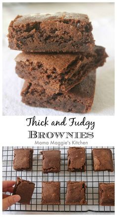 Thick and Fudgy Brownies. You might need to make two batchesof this incredibly decadent dessert. by Mama Maggie's Kitchen