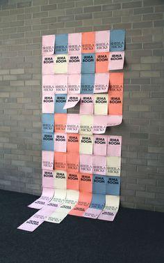 포스터 붙이는 방법 Sheila Hicks & Irma Boom in Conversation – Little and Often Book Design Layout, Print Layout, Box Design, Irma Boom, Interactive Poster, Sheila Hicks, Museum Exhibition Design, Bauhaus, Signage Design