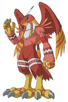 digimon | Garudamon : The Half Bird, Half Human Monster