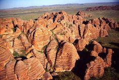 Because of their remoteness, the Bungle Bungles, which are near the state line of Western Australia and Northern Territory, were simply not really known of until the 1980s even though they cover an area of about 1000 square miles.