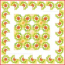 Thimblelady's new quilt design for new quilters and home makers. Easy applique. Can be made by hand and bay machine.