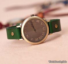 50% OFF SALE,women watches,Women  Leather Watch Women Wrist Watch, Vintage Wrist watch,wristwatches Unisex watch,Y009 on Etsy, $7.94
