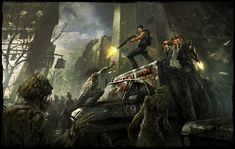 """Posted by mandrykart on January 6, 2014 These were done for a game called """"Beyond the Dead"""" from Gree"""
