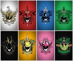 Awesome Power Ranger crests!