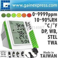 149.00$  Buy here - http://alim3d.shopchina.info/go.php?t=958540954 - Digital Wall mount/Desktop Carbon Dioxide CO2 0-9999ppm Monitor Temperature RH Dew Point Wet Bulb TWA STEL Made in Taiwan  #buyininternet