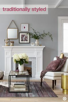 Create a cozy vibe for fall by introducing vibrant colors to a traditional, neutral space. This season, berry hues are front and center. Layer on this lush shade using chunky knit throws and decorative pillows. Add in a few luxe accent pieces, like mirrors, vases and marble clocks, to create a look you'll love all season long.