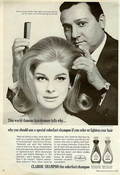 Candice Bergen for Clairol, 1965: