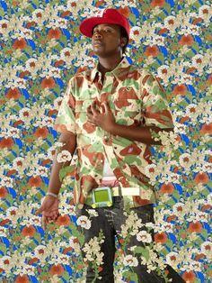 Kehinde Wiley: After George Romney's 'Elizabeth Warren as Hebe' 2009 Inkjet on Hahnemuhle 30 x 24 in