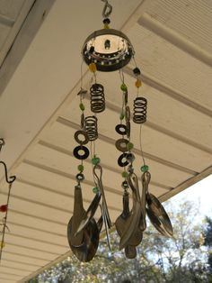 Charming Recycled Wind Chime by kelleyraew on Etsy, $25.00
