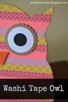 Washi Tape Owl {Craft}