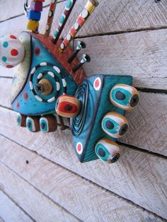 Twisted Fish 116  Found Object Wall Art by Fig Jam Studio