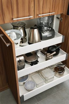 Interior Sliding Drawers - contemporary - Kitchen - Other Metro - Wood-Mode Fine Custom Cabinetry