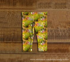 Colorful Baby Leggings featuring 'Vivid Flowers' design by Sandy Richter available sizes 6 months to 3 years at Art Of Where