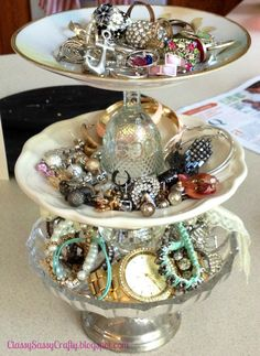 DIY Shabby Chic Jewelry Holder maybe we should do this to display our jewelry& sell the holder                                                                                                                                                                                 More