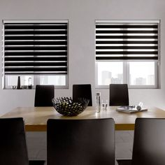 Zebra Blinds offers artistic feeling to the user functionally and acts as sunshade at the same time.Buy High Quality Zebra Blind Shades from Spectra Blinds.Install Zebra Blinds & Control the light & privacy of your home at a time.Call Us Zebra Curtains, Zebra Blinds, Black Curtains, Fabric Blinds, Curtains With Blinds, Persiana Sheer Elegance, Cheap Blinds, Traditional Curtains, Blinds Design