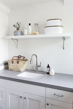 The Stringham Project Photo Tour Pt. Studio Mcgee Blog, Mudroom Laundry Room, Laundry Room Inspiration, Kitchen Essentials, Decorating Your Home, House Styles, Instagram, Home Decor, Open Shelving