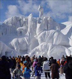 Wowww splendide sculpture de glace <3 ***