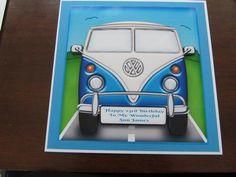 7 x 7 Vw Campervan Topper - Card Making