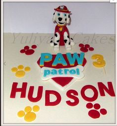 Edible Paw Patrol inspired cake topper,dog,name,number,handmade,boy,girl,tv programme