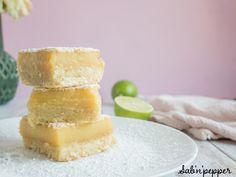 Carrés au citron vert ; une recette facile et gourmande #citron #gouter #gouterfacile #goutercitron