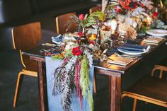 The most gorgeous tablescpae from the Utah Bride Blog 2013 Winter Editorial. Photography by David Newkirk and Flowers by Blossom Sweet!