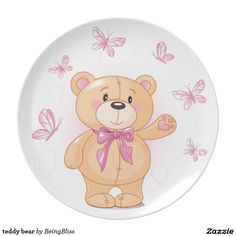 teddy bear plates