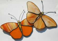 Stained Glass Butterfly Suncatchers