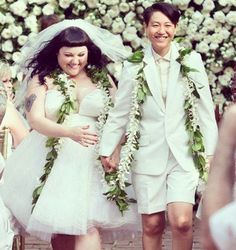 Beth Ditto  her partner rocked out their wedding style