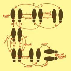 E F D Ce D B Caf E Dc Dance Parties Derby on Electric Slide Dance Steps Diagram