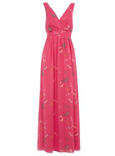 Pink bird maxi dress by Olivia Rubin for Dorothy Perkins. Perfect for effortlessly stylish summer days