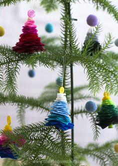 Julgranar av filt & knappar – Felt and button Christmas trees | Craft & Creativity – Pyssel & DIY