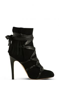 GIANVITO ROSSI, AW10 BLACK SUEDE MULTI-STRAP: always more room for black ankle boots.
