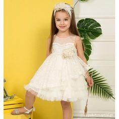 Βαπτιστικό Φόρεμα Ιβουάρ Mi Chiamo K4300 Girls Dresses, Flower Girl Dresses, Christening, Girl Outfits, Wedding Dresses, Clothes, Fashion, Dresses Of Girls, Baby Clothes Girl
