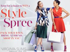 2016 Virginia Slims Style Spree Instant Win Game and Sweepstakes (Over 49,500 Prizes!) on http://hunt4freebies.com