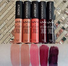 Nyx cosmetics lip butter swatches