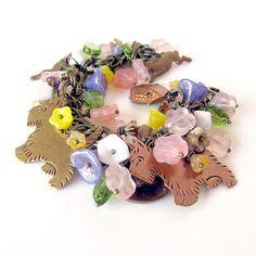 Summer Mischief dog bracelet colorful summer by OneEyeCatStudio