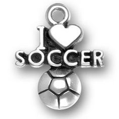 Sterling Silver Charm Bracelet Attached 3D Running Girl Soccer Player Charm Kicking Soccer Ball