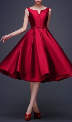 88 Elegant Red Dress Ideas Make You Look Sexy Vestidos Vintage, Vintage Dresses, Vintage Inspired Dresses, Vintage Shoes, Short Dresses, Prom Dresses, Formal Dresses, Dress Prom, Red Semi Formal Dress