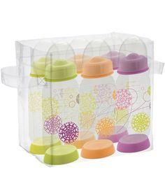 Set 6 biberons plastique thème trendy