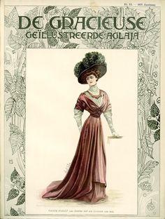 Visiting dress, 1908 the Netherlands, De Gracieuse