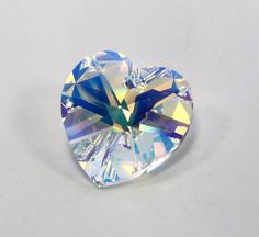 Crystal Heart Pendant AB Austrian Crystal by JewelrySupplyBox, $3.50